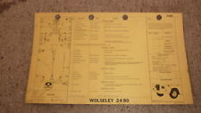 OLD 1960s SHELL OIL Co CAR SERVICE & LUBE CHART, WOLSELEY 24/80