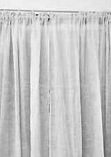 French Country Hamptons Chic Curtains White Linen Unlined Rod Pocket 2x140x240cm