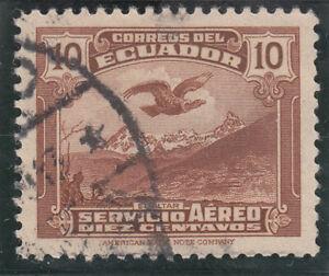 Ecuador 1937, Andean Condor over El Altar, 10c, Used
