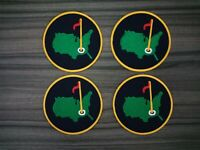 4 pcs Golf Masters  Patches Embroidered Iron or Sew on Hat Bag Shirt