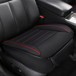 Black PU Leather Car/Auto Front Seat Cover Breathable Mat Cushion Chair Pad Kit