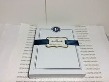 HALLMARK LETTER F MONOGRAM NOTE PAD New in sealed plastic 150 sheets BLUE RIBBON