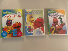 Sesame Street 3 Dvd Lot ABC's With Elmo, Beginning Together, & The Great Numbers