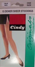 Cindy One Size Originals by Dorothy Vernon 15 Denier Sheer Stockings in True Red