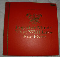 READERS DIGEST - POPULAR MUSIC THAT WILL LIVE FOREVER - 12 LP VINYL BOX SET
