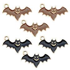 12pcs Enamel Plated Assorted Halloween Bat Pendant Charms Jewelry DIY Findings