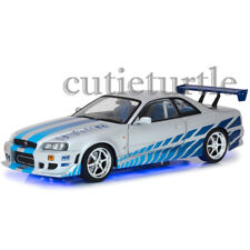 Greenlight Fast & Furious 1999 Nissan Skyline GT-R R34 Neon LED Light 1:18 19041
