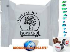 100 Capsule Caffè SOVRANO CREMA BAR Compatibili Sistema KIMBO - ILLY UNO SYSTEM