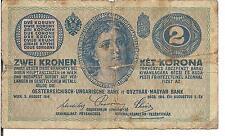 AUSTRIA , 2 KRONEN, 1914