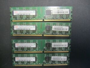 4 x Hynix 1GB 2Rx8 PC2-4200U-444-12 RAM Module 4GB Total