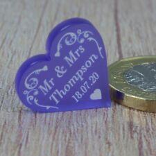 Wedding Favours Personalised Love Hearts Table Decorations Swirl Confetti Decor