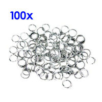 4mm 21 Gauge Open Jump Rings - Silver Plated - 100 Pcs