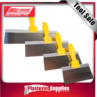 """Wal-Board  Stainless Steel  Taping Knife Set   200mm-350mm 8""""-14""""  4 Piece"""