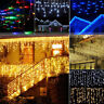 LED Drop Curtain Icicle String Lights Christmas Garland Party Garden Stage Decor