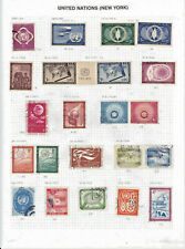 United Nations (New York office) collection on 5 pages  - see description.
