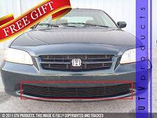 GTG 1998 - 2000 Honda Accord 4dr 1PC Gloss Black Overlay Bumper Billet Grille
