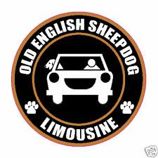 "LIMOUSINE OLD ENGLISH SHEEPDOG 5"" STICKER"