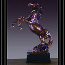 Rearing Stallion 14.5  x 20  Beautiful Bronze Statue / Sculpture Brand New