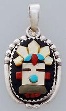 Native American Zuni Kachina Pendant by J.A. Calavaza