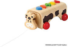 VOILA TOY wooden GEO COW educational learning shapes colors child's gift *NEW