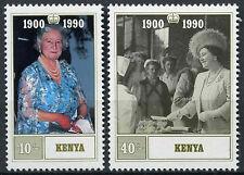 Kenia 1990 Sg # 545-6 Queen madres 90 Aniversario Mnh Set #d 11145