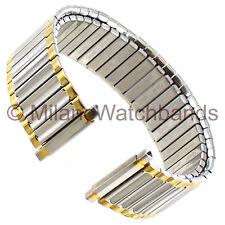 16-22mm Speidel Mens Stainless Steel Two Tone Twist-O-Flex Watch Band