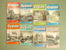 TRAINS ILLUSTRATED MAGAZINES. 1956 ~ EIGHT ISSUES. JOB LOT.  SEE LISTING