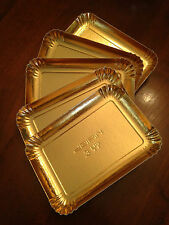 Lotto 212 pezzi Vassoio Cartone Oro - Cm 18x11 (bordi esclusi) spess +/- 1,1mm -