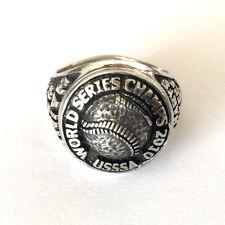 St Marys Yankees Mens Ring 925 Pkd World Series Champs 2010 Usssa Hains #27