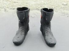 1/6 Scale Emerging Force Collectible Black & Red Motorcycle Boots Foot Type