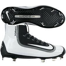 Nike SIZE 8 MENS Boys Air Huarache 2k Filth Elite Mid Baseball Cleats BLACK New