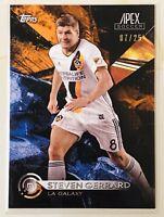 2016 Topps Apex Soccer Steven Gerrard Orange Parallel /25 - LA Galaxy