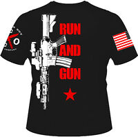 Run and Gun T-shirt I Knives Out I Veteran I Military I Patriot I American