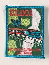 Vintage KURANDA Souvenir Patch Australian Australia Embroidered Retro Queensland