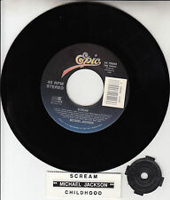 "MICHAEL JACKSON Scream 7"" 45 rpm vinyl record BARGAIN + juke box title strip NEW"