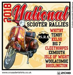 2018 NATIONAL RUN SCOOTER RALLY PATCH BSRA MODS SKINHEADS not PADDY SMITH