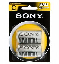 Confezione 2 Pile Batterie Sony New Ultra C Sum2 R14 1.5V Mezze Torce hsb