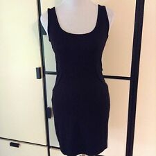 NWT Designer 'TWENTY' brand Knit Black Tank Dress MSRP $198 Racerback Mesh Sz Sm