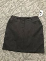Marsh  Landing Stretch Women's 12 Skirt Gray With Side Pockets Front Nwot