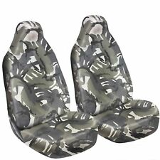 LAND ROVER FREELANDER (97- 06) FRONT SEAT COVERS HEAVY DUTY 1-1 GREY CAMO DPM