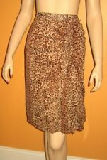 New NWT Leopard Animal FAUX WRAP DRESS SKIRT Ruffle Side 3x 4x PLUS SIZE 24 24W