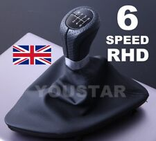 Leather Weighted 6 Speed Gear Knob with Gaiter Boot BMW 1 series E81 E82 E87 E88