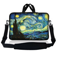 """14.1"""" 14"""" Laptop Sleeve Bag Case w Shoulder Strap and Handle Starry Night SP49"""