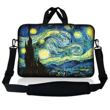 "14.1"" 14"" Laptop Sleeve Bag Case w Shoulder Strap and Handle Starry Night SP49"