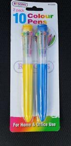 10 in 1 Colour Pen Multi Colour Retractable Ball Point Pen Ball Pen 10 Colours