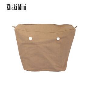 New Canvas Inner lining Insert Pocket For Classic Mini Obag O BAG Handbag