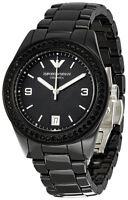 Emporio Armani AR1423 Black Dial Black Ceramic Bracelet Women's Watch