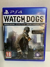 Play Station 4 ps4 Wachhunde Special Edition Breakthrough Pack * getestet * USK 18