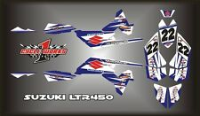 SUZUKI LTR 450 QUADRACER  SEMI CUSTOM GRAPHICS KIT WHITEE