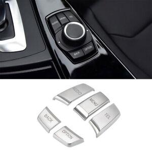 For BMW 1 3 4 5 Series X5 X6 Chrome Multi Media Button Cover Decor Trim 5pcs